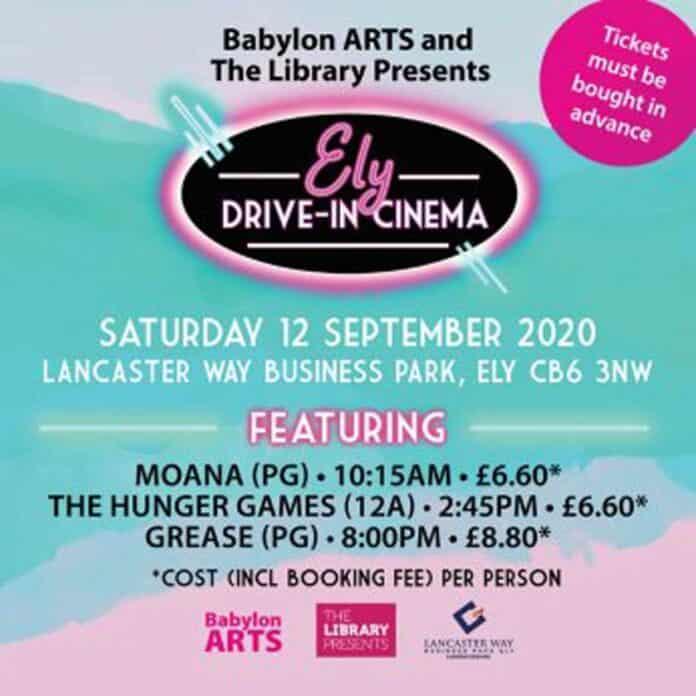 Ely drive in cinema inside cambridge