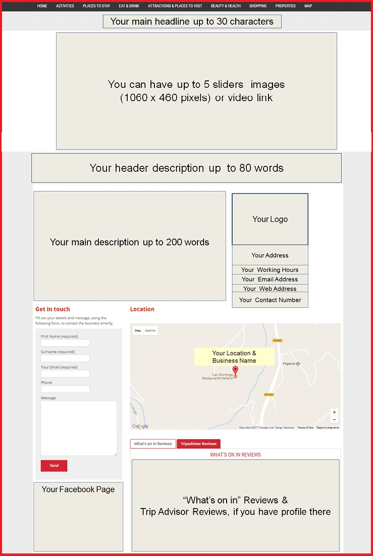 Sales Page Layout when Advertise in Cambridge